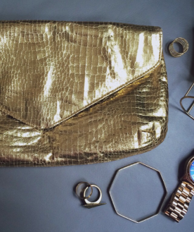 Gold clutch bag, £0.99p, eBay